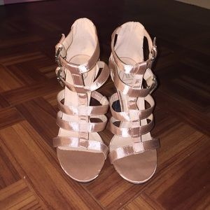 Missguided Rose Gold Gladiator Heels NWT SZ 6